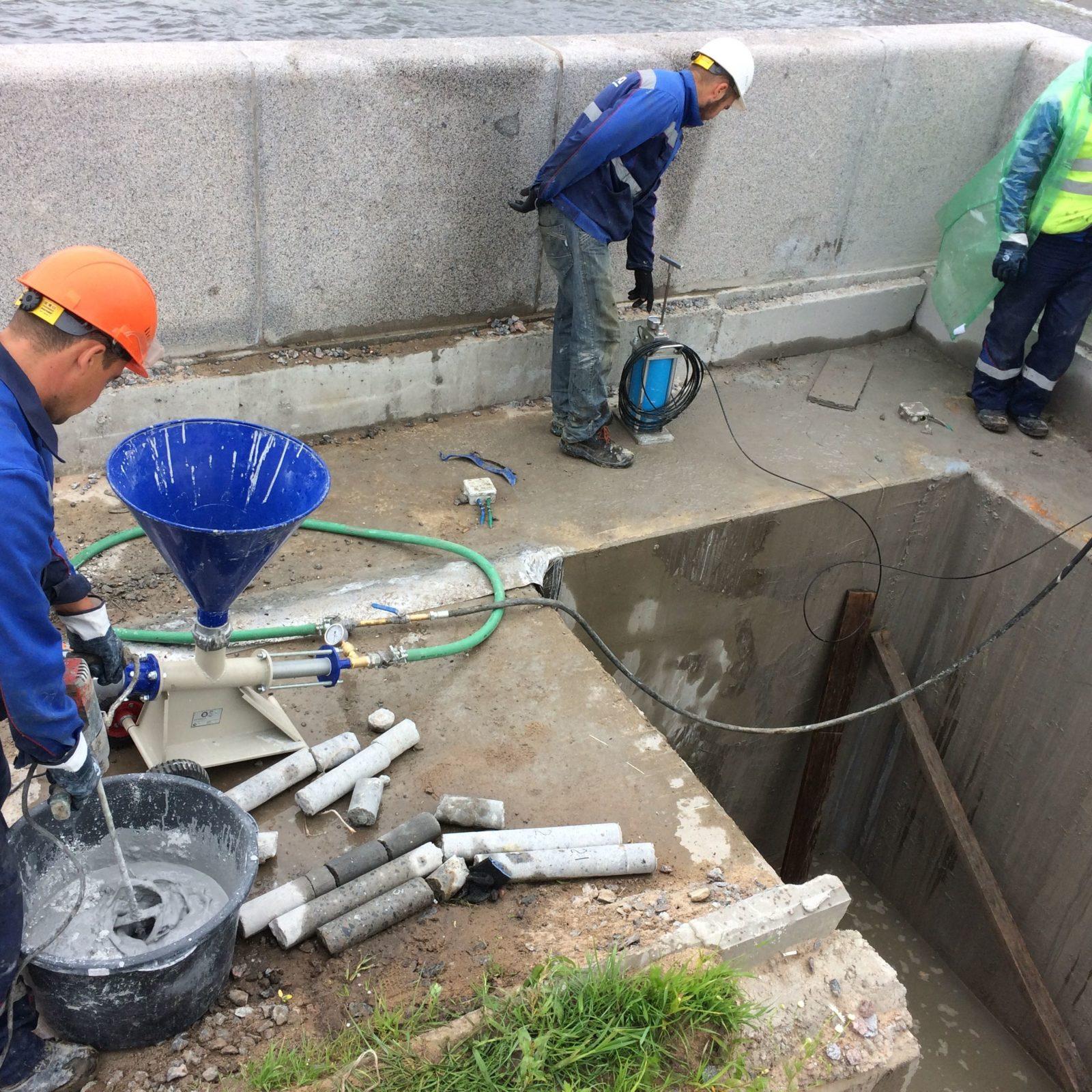 Цементный раствор для инъектирования расформовка бетона